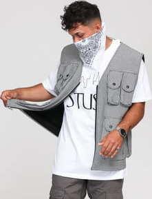 Stüssy Houndstooth Work Vest černá / bílá