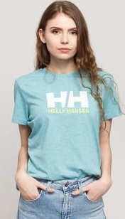 Helly Hansen W HH Logo Tee melange světle modré