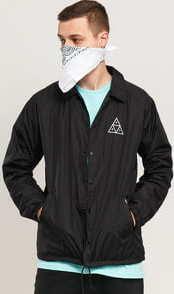 HUF Essentials TT Coach Jacket černá