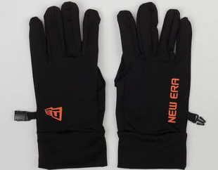New Era Electronic Touch Glove černé / oranžové