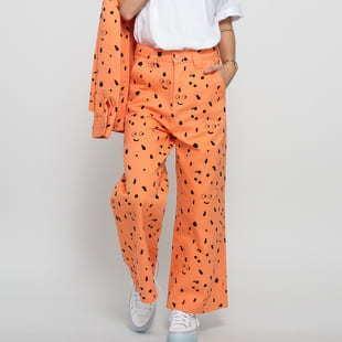 LAZY OAF LO X SA Glazed Over Work Pant oranžové / černé 30