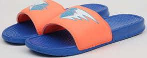 Pink Dolphin Waves Streak Slides blue