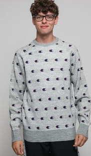 Champion Crewneck Sweater melange šedý
