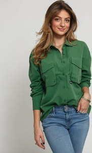 Stüssy Range Outdoor LS Shirt tmavě zelená
