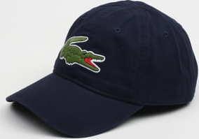 LACOSTE Big Croc Gabardine Cap navy