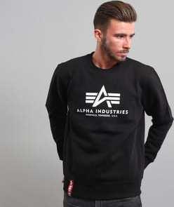 Alpha Industries Basic Sweater černá