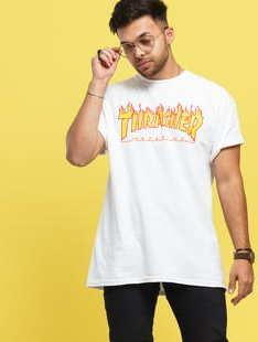 Thrasher Flame Logo bílé