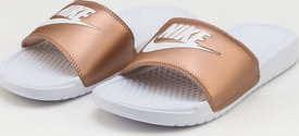 Nike WMNS Benassi JDI white / white - metallic red bronze