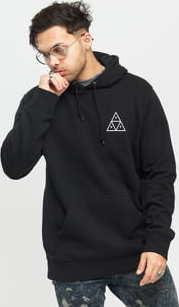 HUF Essentials Triple Triangle Hooded černá
