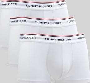 Tommy Hilfiger Low Rise Trunk 3 Pack Premium Essentials C/O bílé