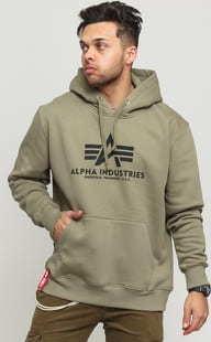 Alpha Industries Basic Hoody olivová