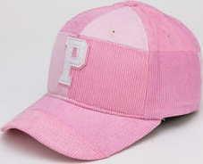 Pink Dolphin Corduroy P Hat světle růžová / růžová