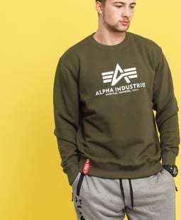 Alpha Industries Basic Sweater tmavě olivová
