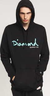 Diamond Supply Co. OG Script Hoodie černá