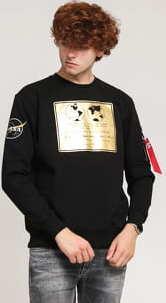Alpha Industries Lunar Plaque Sweater černá / zlatá