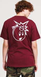 The Hundreds Forever Simple Adam T-Shirt vínové