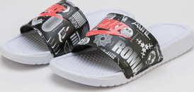 Nike Benassi JDI Print white / university red - black