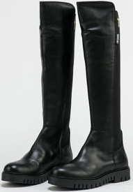 TOMMY JEANS Double Detail Long Boot black