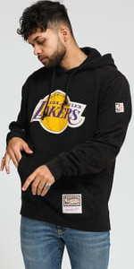 Mitchell & Ness NBA Worn Logo/Wordmark Hoody LA Lakers černá