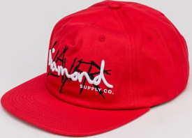 Diamond Supply Co. Diamond X Slayer Unstructured Strapback červená
