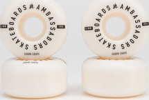 Ambassadors Wheels 103A bílé / černé 51mm