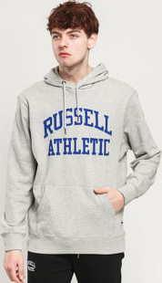 RUSSELL ATHLETIC Arch Logo Hoody melange šedá