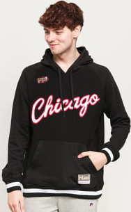 Mitchell & Ness Gametime Pullover Sweatshirt Chicago Bulls černá