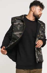 Urban Classics Ranger Vest camo tmavě šedá