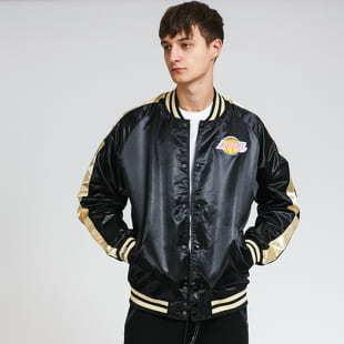 Mitchell & Ness Color Blocked Satin Jacket LA Lakers černá / zlatá