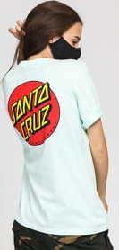 Santa Cruz W Classic Dot Tee mentolové