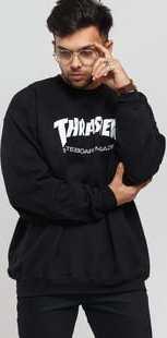 Thrasher Skate Mag Crewneck černá