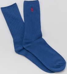Polo Ralph Lauren Classic Cotton Crew Socks modré