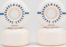 Ambassadors Wheels Digi 103A bílé / modré 54mm