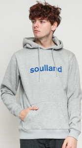 Soulland Googie Hooded melange šedá