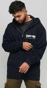 Thrasher Magazine Logo Zip Hoody černá