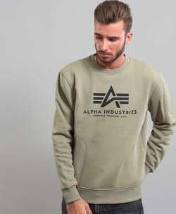 Alpha Industries Basic Sweater olivová