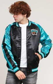 Mitchell & Ness Satin Jacket Grizzlies Vancouver černá / tyrkysová