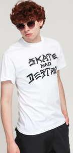 Thrasher Skate And Destroy Tee bílé