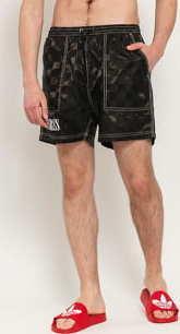 PLEASURES BPM Shorts černé