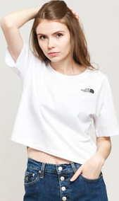 The North Face W Cropped Simple Dome Tee bílé