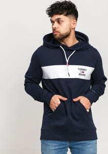 TOMMY JEANS M Essential Graphic Hoodie navy