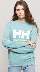 Helly Hansen W HH Logo Crew melange světle modrá