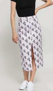 Santa Cruz Wall Hand Skirt světle fialová / černá