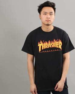 Thrasher Flame Logo černé