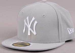 New Era Kids MLB League Basic NY C/O šedá 6 3/4 (54 cm)