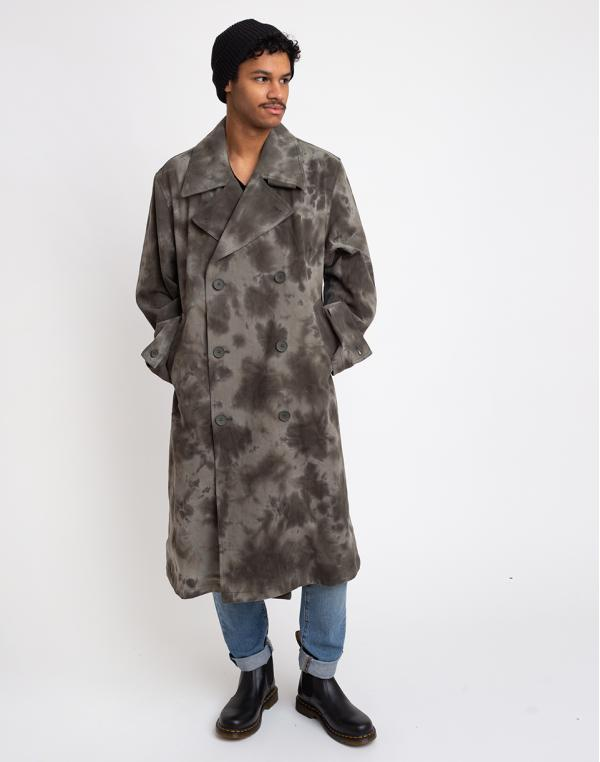 Stüssy Dyed Trench Coat Olive Drab L