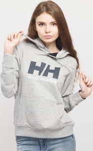 Helly Hansen W HH Logo Hoodie melange šedá
