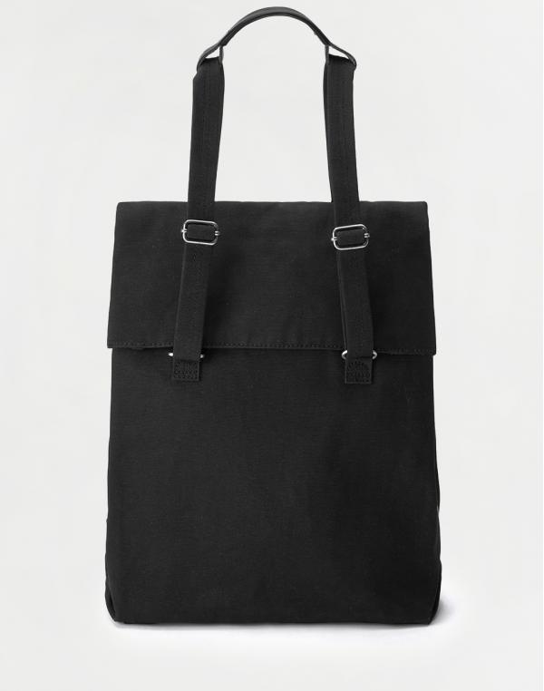 Qwstion Flap Tote Medium All Black