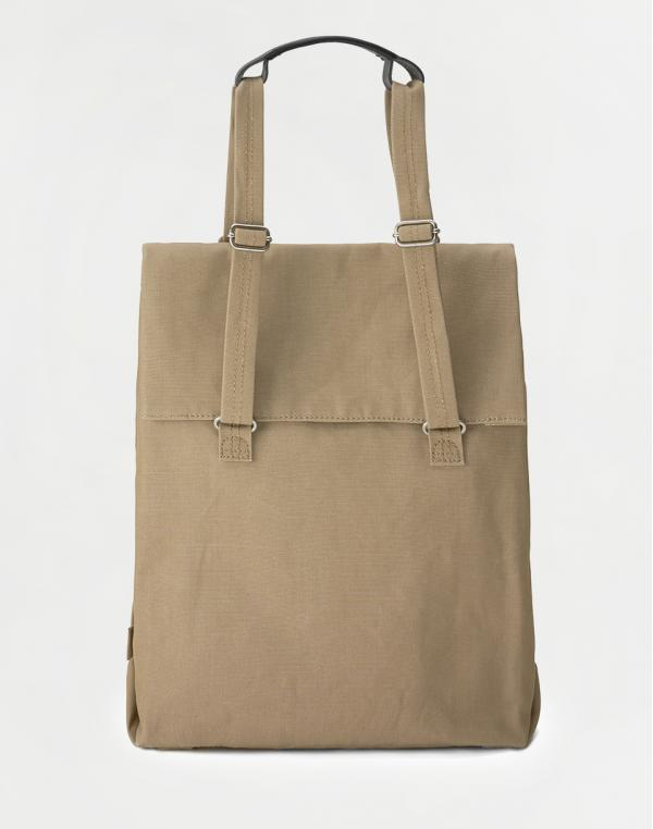Qwstion Flap Tote Medium Sand