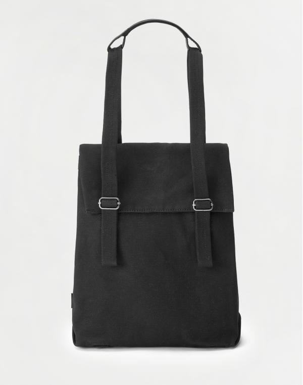 Qwstion Flap Tote Small All Black